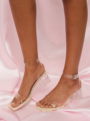 NLY Shoes Clear Low Block Heel