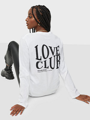 Missguided Love Club Rear Graphic Oversized Tee