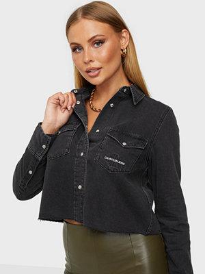 Calvin Klein Jeans CROPPED MODERN ESSENTIAL SHIRT