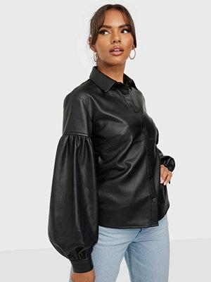 NLY Trend Balloon Sleeve Pu Shirt