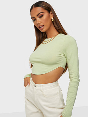 NLY Trend Curved Hem LS Top