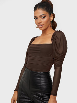 NLY One Ruched Mesh Bodysuit