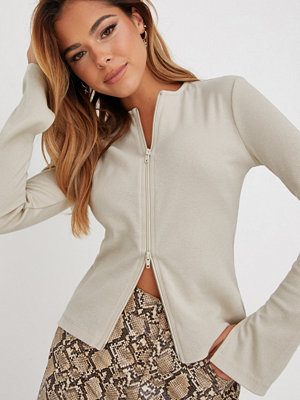 NLY Trend Zipped Up Rib Top