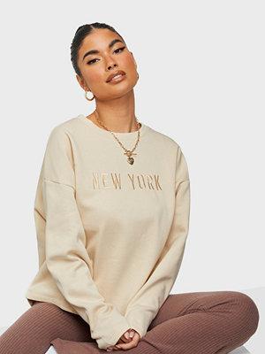 Jacqueline de Yong JDYPARIS LIFE L/S SHORT EMB SWEAT J