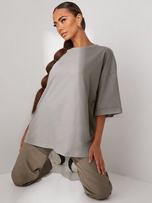 Missguided Roll Sleeve Crew Neck