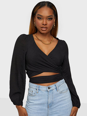 Love Triangle LONG SLEEVE WRAP TIE FRONT TOP
