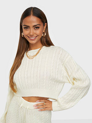 NLY Trend Cropped Cable Knit Sweater
