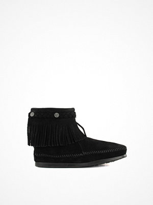 Minnetonka Hi Top Back Zip Svart