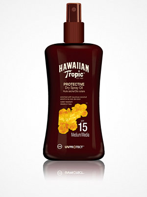 Solning - Hawaiian Tropic Protective Dry Spray Oil SPF 15 200 ml Transparent