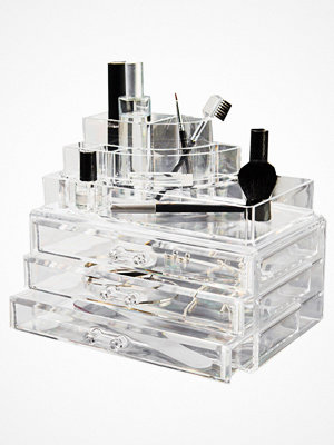 Paket & boxar - Cosmetic Organizer Large 3 Drawer Cosmetic Box Transparent