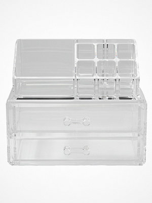 Makeup - Cosmetic Organizer 2 Drawer Cosmetic Box Transparent