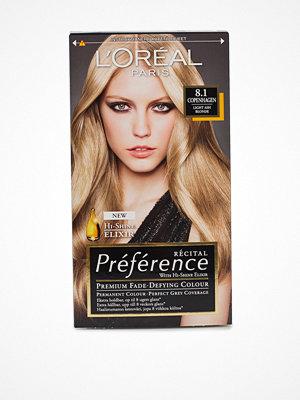 Hårprodukter - L'Oréal Paris Préferénce Récital hair color 8,1 Copenhagen