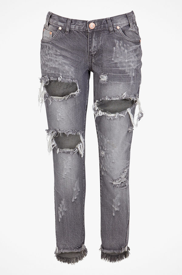 One Teaspoon Jeans Grey Chalk Freebirds