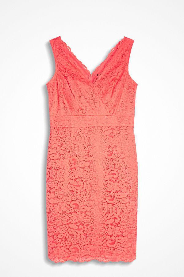 Esprit Spetsklänning med v-ringning - Klänningar online - Modegallerian d360c88a910a6