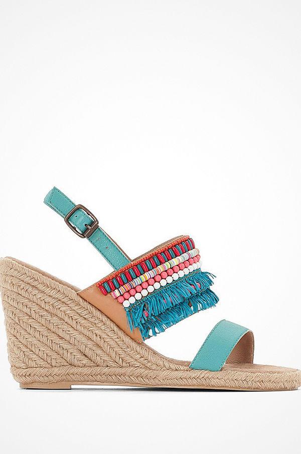 La Redoute Sandaletter i skinn med kilklack 60c88a0b9497c