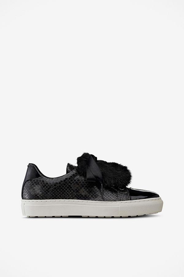 Billi Bi Sneakers slip-in med fuskpälsdekor