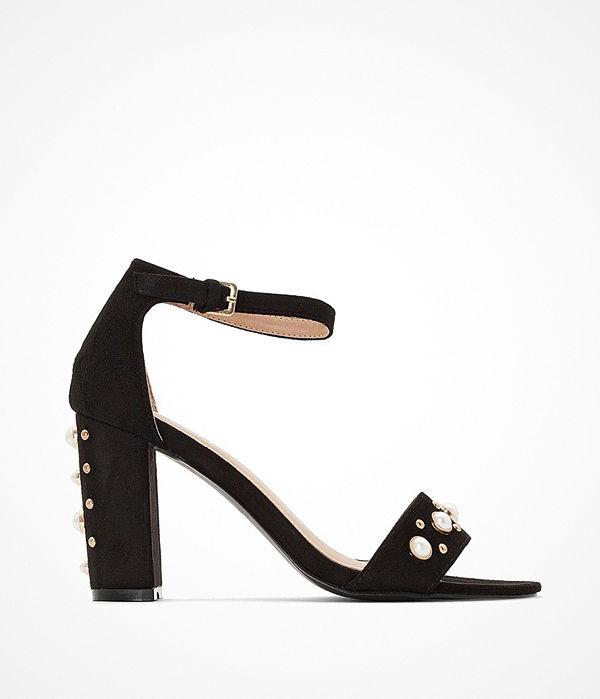 La Redoute Sandaletter med hög klack och pärldekor