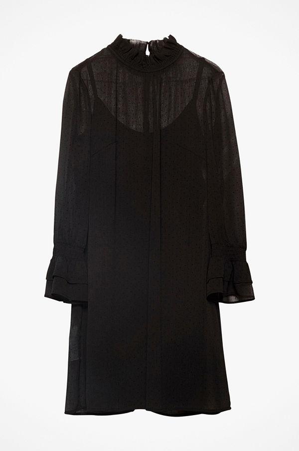 Esprit Klänning Flocked Dot Cri Dress