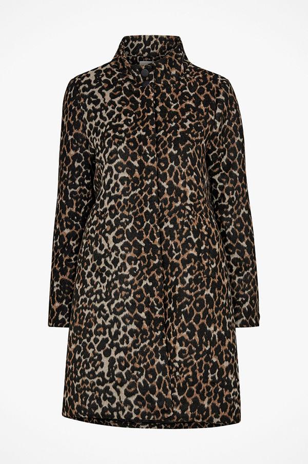 Soaked in Luxury Kappa Francis Wool Coat, leopardmönstrad