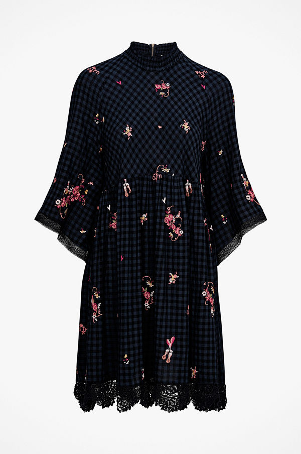 Odd Molly Klänning Embroidered Space Roses Dress