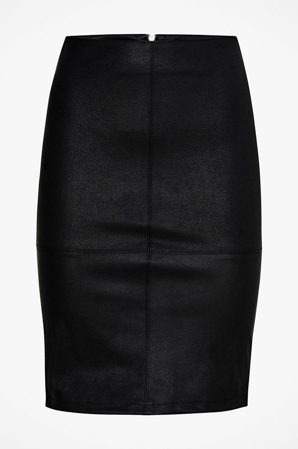 Only Kjol onlCelina Faux Leather Midi Skirt