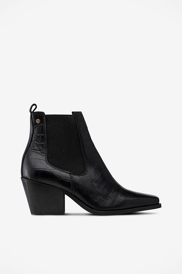 Agnes Cecilia Boots Western Croco