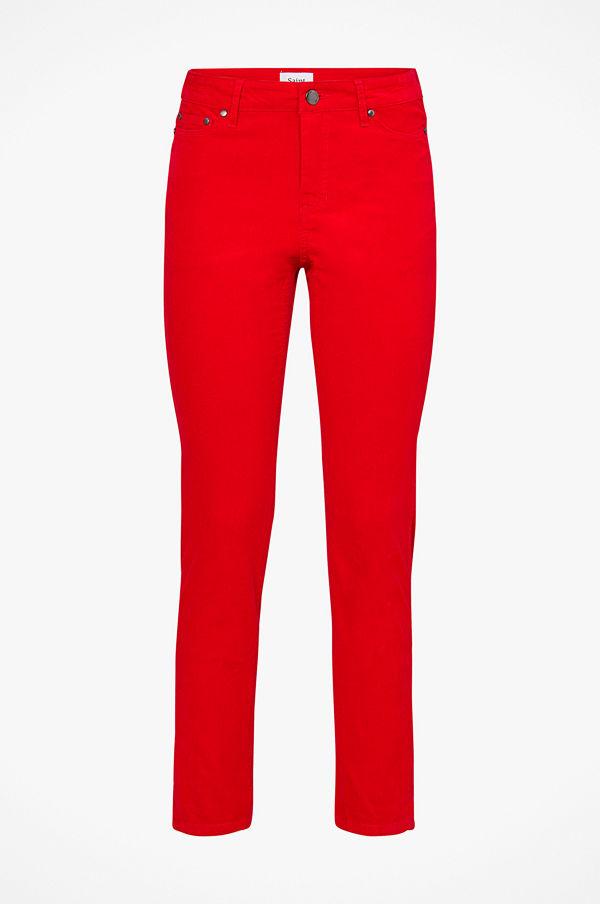 Saint Tropez Manchesterbyxor röda - Byxor online - Modegallerian 4170400d35b91