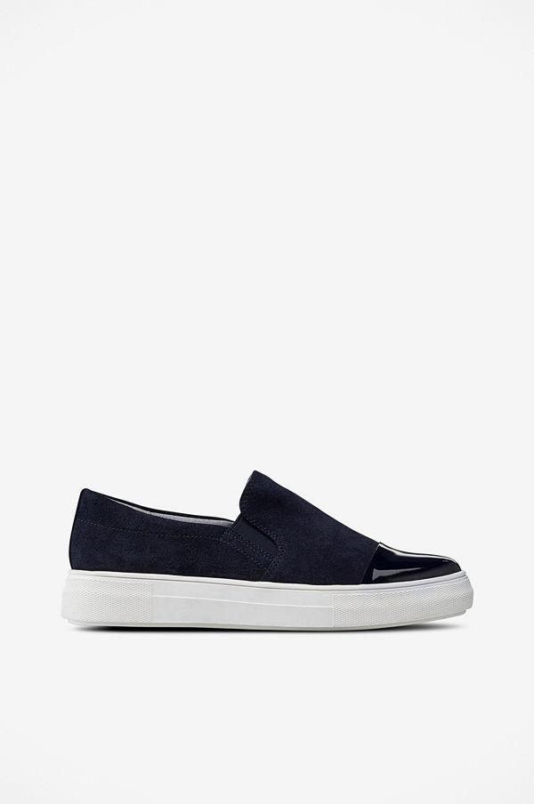 Ellos Sneakers Slip On Shiny Toe
