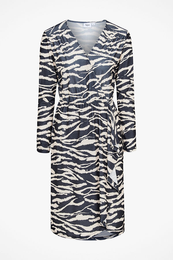 Saint Tropez Klänning Tiger Jersey Wrap Dress