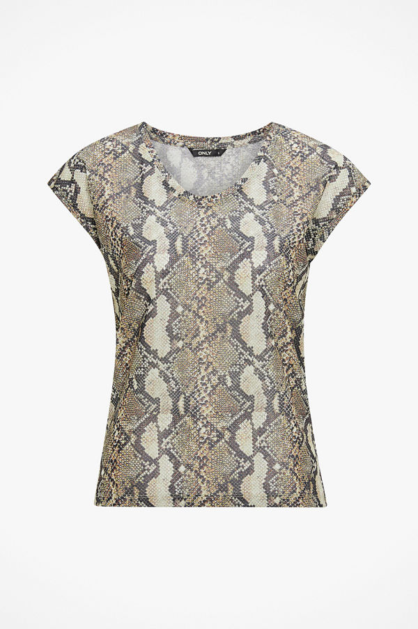 Only Topp onlSilvery SS Lurex Top