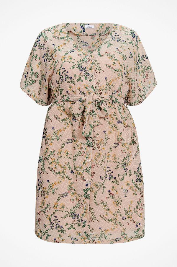 La Redoute Blommönstrad klänning i halvlång, rak model