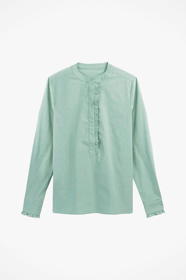 La Redoute Skjorta med volang, liten ståkrage och lång ärm