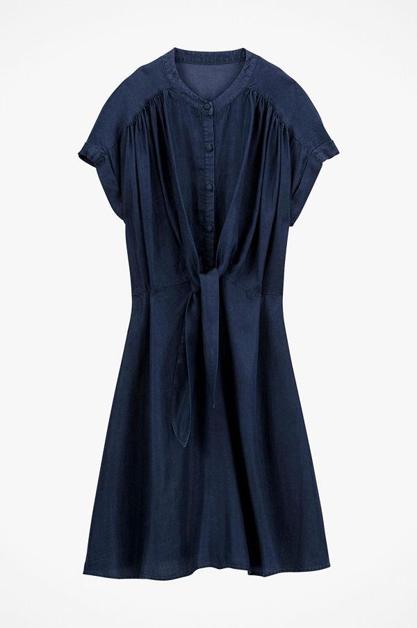 La Redoute Utställd klänning i lätt denim med kort ärm