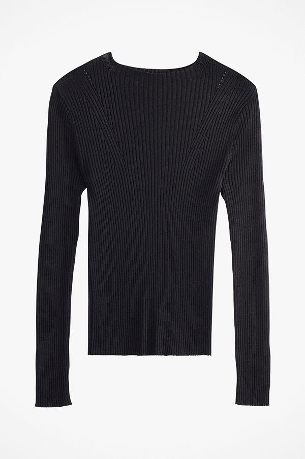 La Redoute Ribbstickad tröja med hög krage