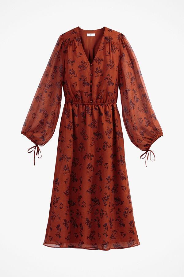 La Redoute Blommig maxiklänning med lång ärm