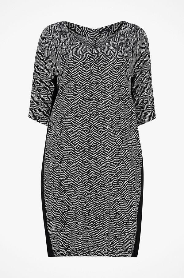 La Redoute Mönstrad klänning i halvlång, rak modell