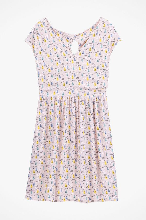 La Redoute Ärmlös klänning i utställd modell, mönstrad