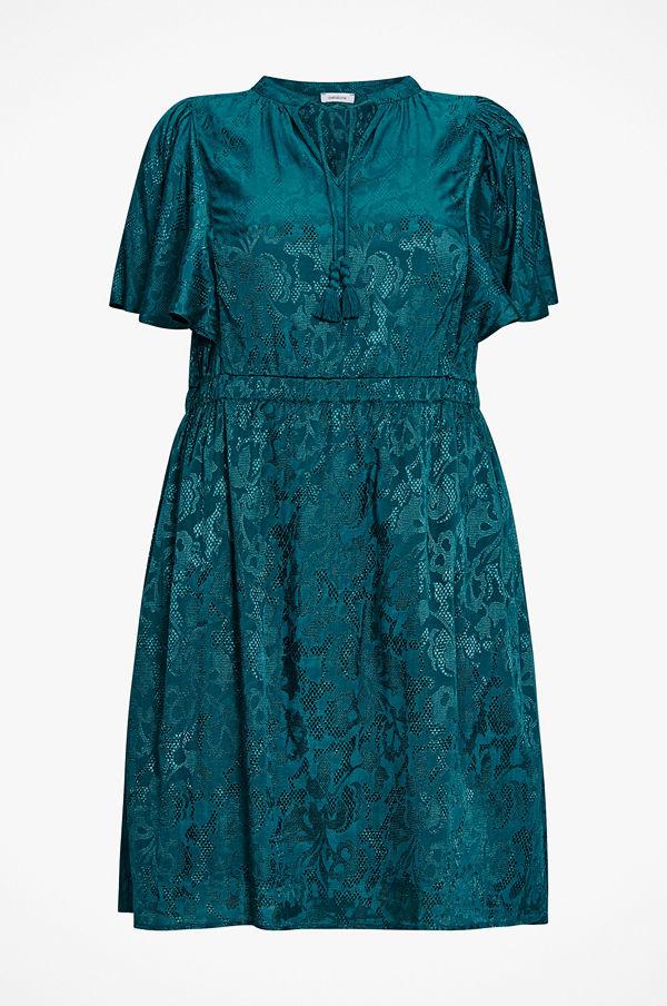 La Redoute Rak, jacquardmönstrad klänning i halvlång modell