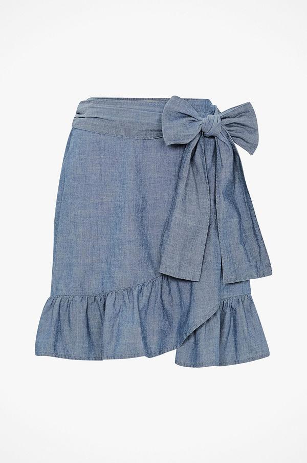 Vero Moda Volangkjol vmCita MR Chambray Wrap Skirt