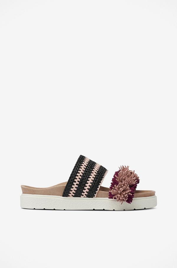 INUIKII Sandal Slipper Raffia Striped