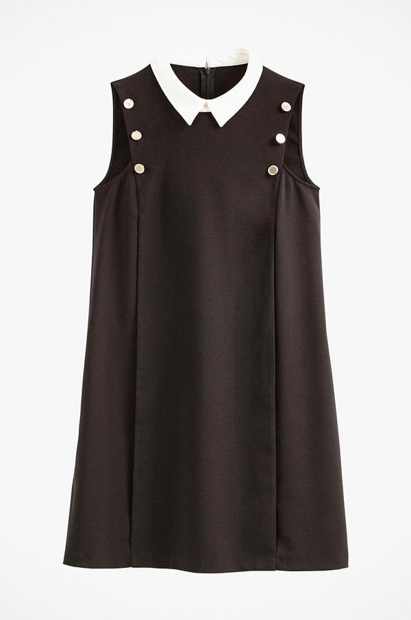 La Redoute Ärmlös klänning i kort rak, modell med skjortkrage
