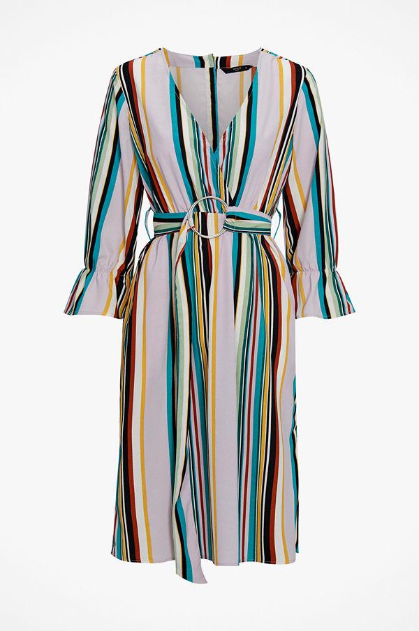 Only Klänning onqBlair 3/4 Stripe Midi Dress