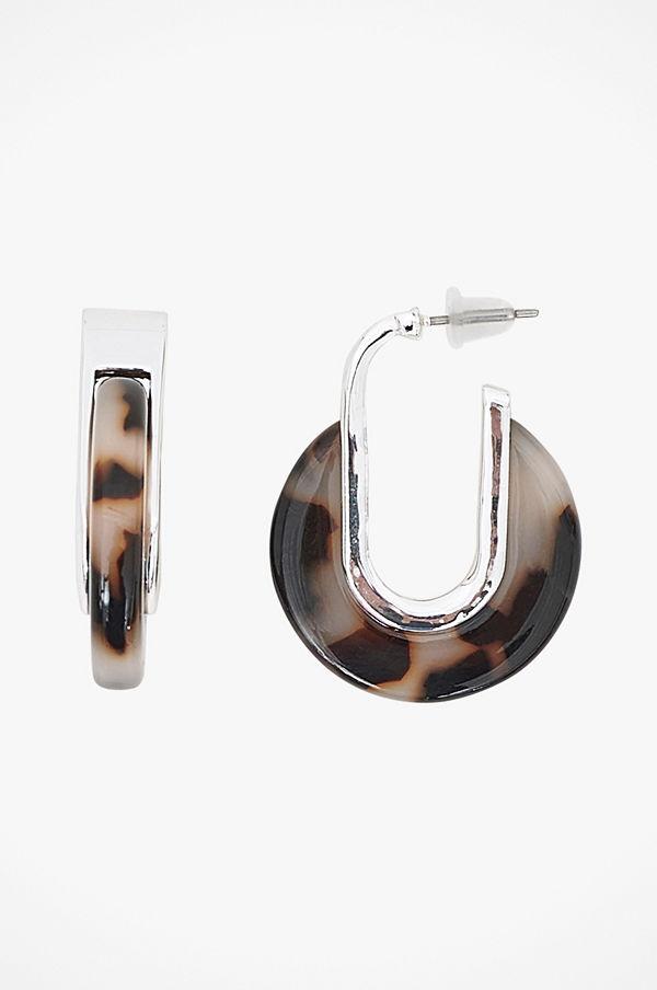 SNÖ of Sweden smycke Örhängen Gray Small Oval