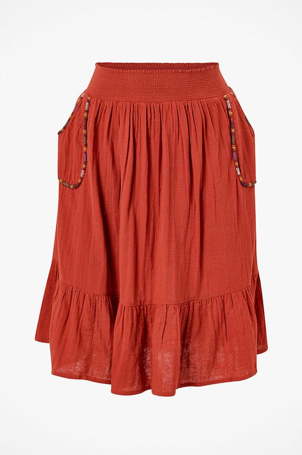 La Redoute Halvlång, utställd kjol med broderade detaljer