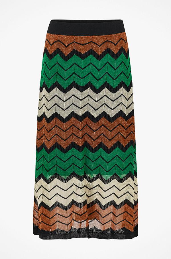 Second Female Kjol Wave Knit Skirt