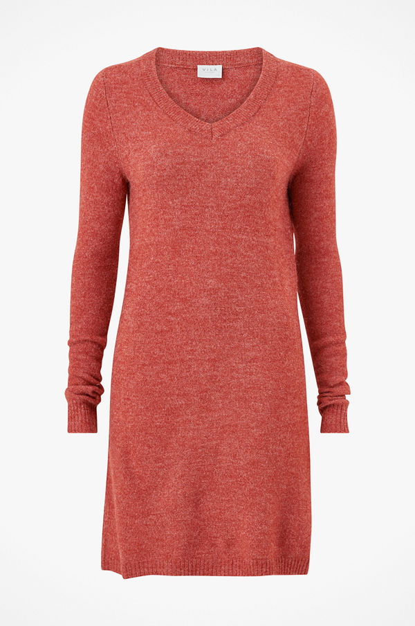 Vila Klänning viVikka L/S Knit V-neck Dress