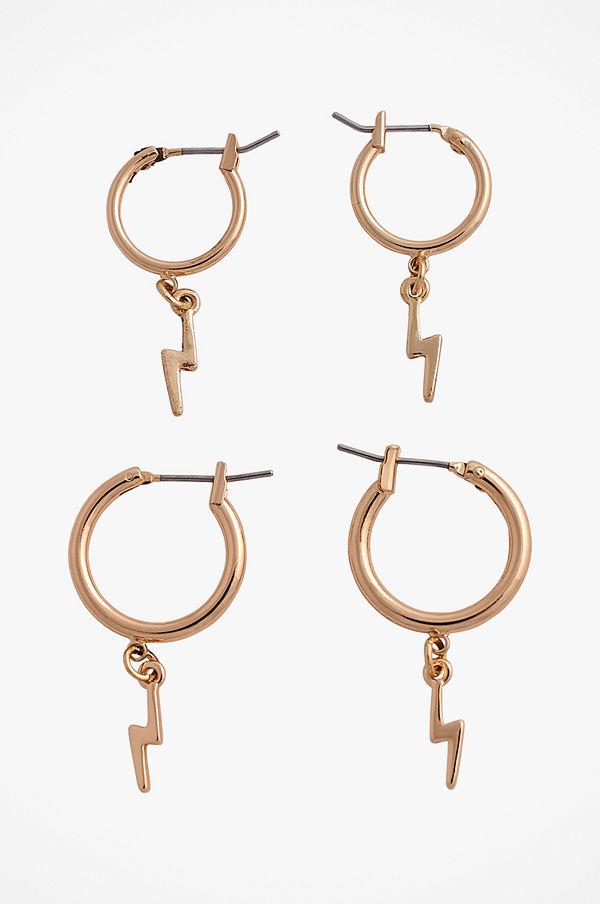 Pieces smycke Örhängen pcGaby Hoop Earrings, 2-pack