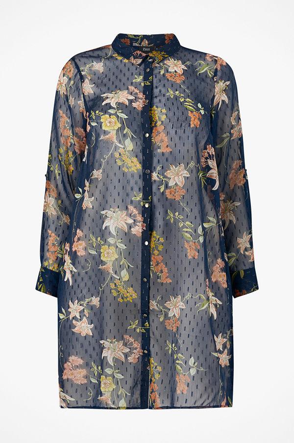 Zizzi Långskjorta xEmma L/S Long Shirt