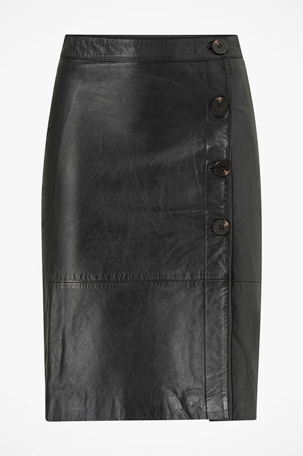 Vila Skinnkjol viElfi HW Leather Skirt