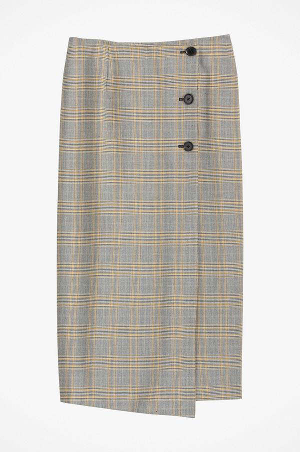 La Redoute Rutig kjol i rak, halvlång modell